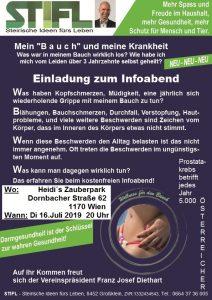 """Mein """"Bauch"""" und meine Krankheit - Infoabend mit Franz Josef Diethart @ Heidi´s Zauberpark"""