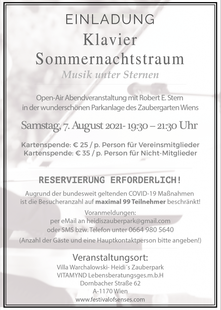 Klavierabend Sommernachtstraum @ Heidi's Zauberpark