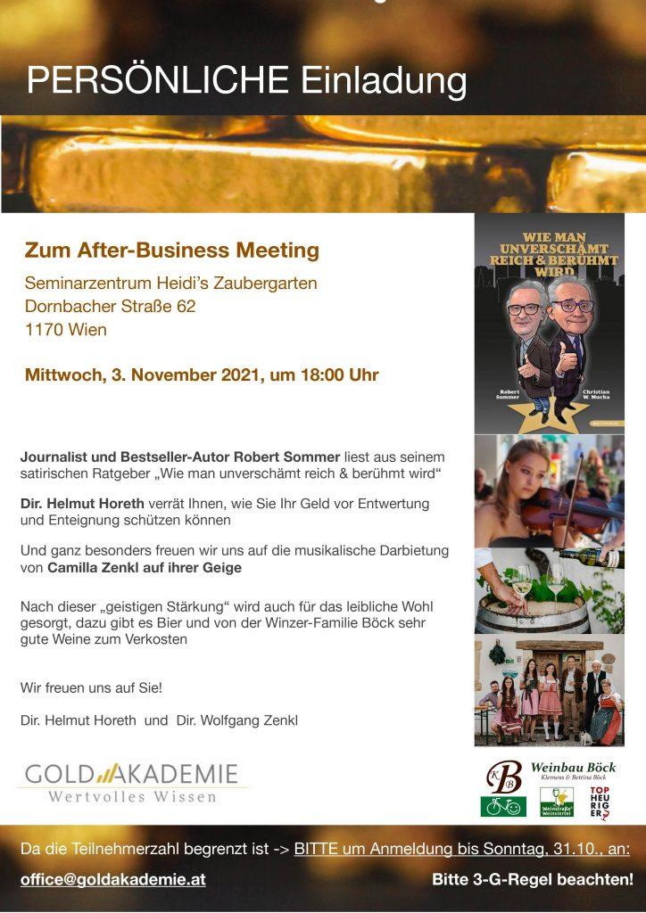 After Business Meeting - Goldakademie